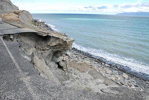Eroded Road at Whatarangi Bluff, Palliser Bay-2.jpg
