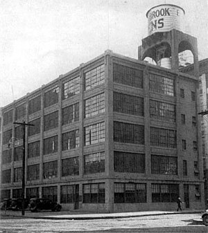 Esterbrook - The Esterbrook Pens Co. plant stood at Cooper Street and Delaware Avenue in Camden, New Jersey, c. 1920.