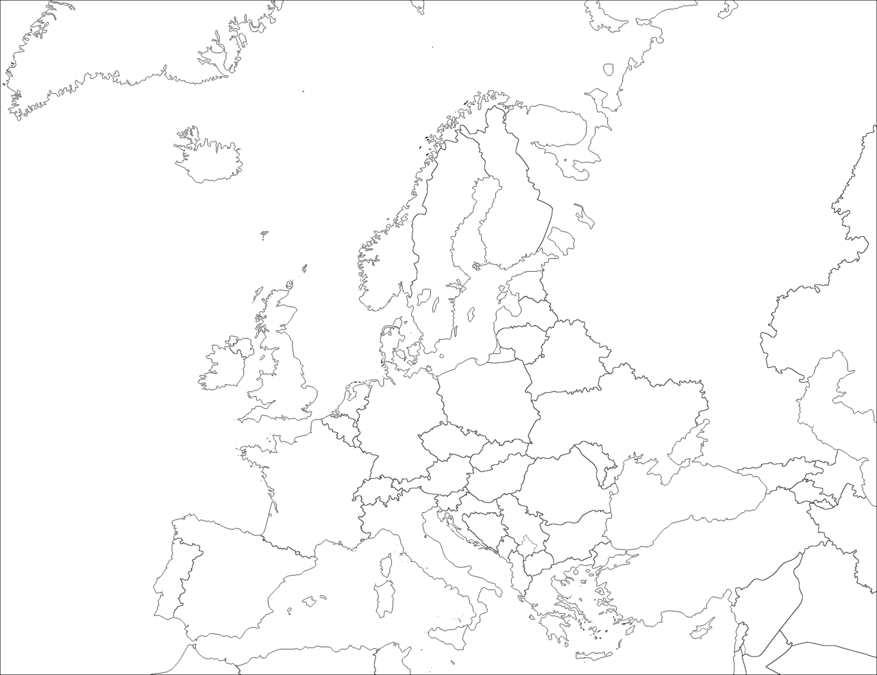 carte europe png