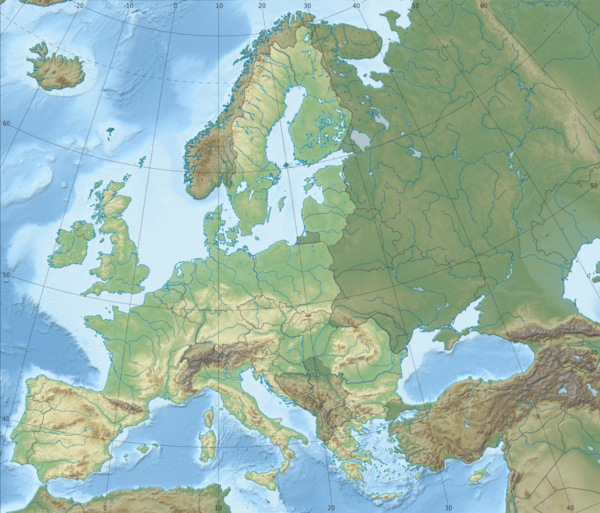 Den europeiske unions byråer is located in Mal:Location map European Union