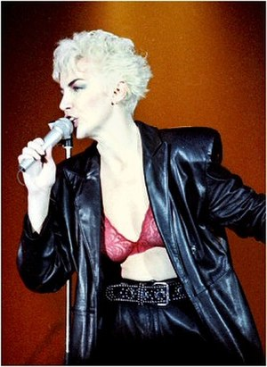 Eurythmics - Annie Lennox performing during Revenge Tour in 1986