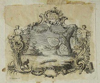 Albrecht von Haller - Ex libris from Albrecht von Haller. Da Fondazione BEIC