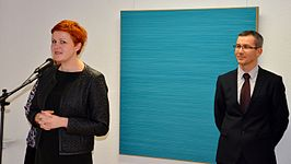 Exhibition of Norwegian artist Lars Strandh in Minsk Museum Modern Art 18.02.2015 03.JPG