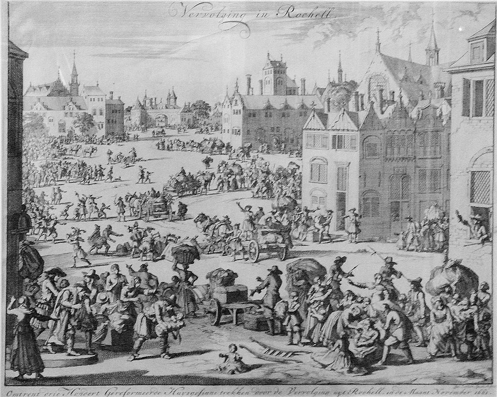 Expulsion from La Rochelle of 300 Protestant famillies Nov 1661 Jan Luiken 1649 1712