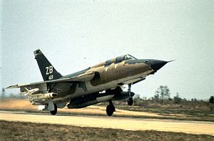 AGM-78 Standard ARM - A 6010th WWS F-105G taking off to North Vietnam, 1971.