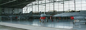 31st Tactical Air Base -  F-16 C/Ds in the base's hangar
