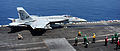 F-18E of VFA-31 on catapult of USS GHW Bush (CVN-77) in September 2014.JPG