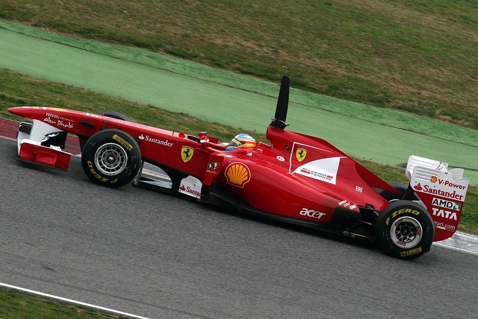 F1 2011 Barcelona test - Alonso