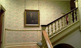 Queen's College, London - F. D. Maurice's painting hangs at the entrance to the Hall