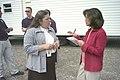 FEMA - 41486 - FEMA's Pam Willis explains temporary housing to media member in West Virginia.jpg