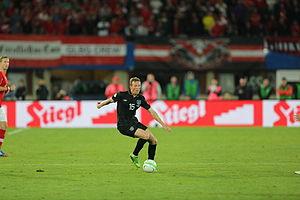 Paul Green (footballer, born 1983) - Green in action for the Republic of Ireland against Austria in September 2013