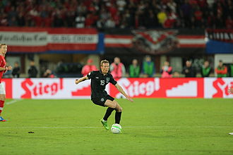 Paul Green (footballer, born 1983) - Green in action for the Republic of Ireland against Austria in September 2013