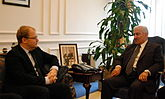 FM Urmas Paet met with the Prime Minister of Jordan Abdullah Ensour in Amman. 9.01.2013 (8364907805).jpg