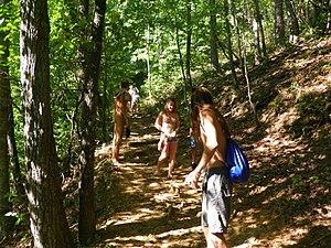 Naked hiking - Florida Young Naturists hiking