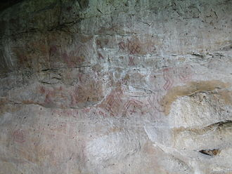 Herrera Period - Pictographs at Piedras del Tunjo Archaeological Park, site from the Herrera Period