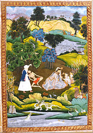 Fainted Laila and Majnun-Based on the Khamsa of Persian poet Nizami - Google Art Project.jpg