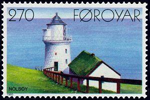 Nólsoy - Image: Faroe stamp 115 lighthouse bordan