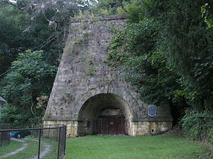 National Register of Historic Places listings in Clinton County, Pennsylvania - Image: Farrandsville Iron Furnace