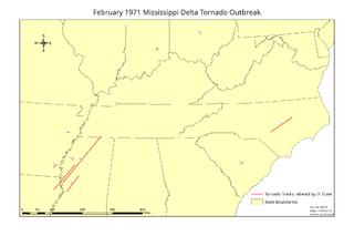February 1971 Mississippi Delta tornado outbreak