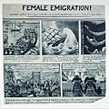 Female Emigration! Dedicated with all Due respect to the fair sex of Great Brittain and Ireland -by their Obedient Servant-W.N (caricature) RMG PU4796.jpg