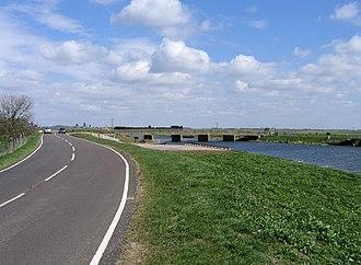 Crowland - Fen Bridge, where the B1166 crosses the River Welland