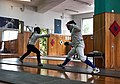 Fencing in Greece. Fencing training at Athenaikos Fencing Club with fencers from other clubs.jpg