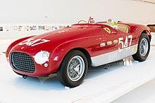 Ferrari 340 MM del 1953 esposta la Museo Enzo Ferrari, prima Ferrari a vincere il campionato sportprototipi 1953 insieme alla Ferrari 375 MM