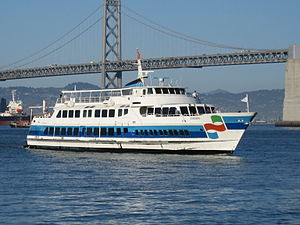 Ferries of San Francisco Bay - Golden Gate Ferry Sonoma, approaching the Ferry Building in San Francisco
