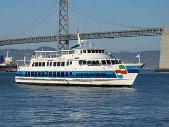 Golden Gate Ferry - The M.S. Sonoma crosses San Francisco Bay.