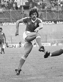 17473ccb64c Wark scoring in a friendly against Standard Liège in August 1981