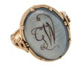 Fingerring av guld med medaljong, 1700-tal - Hallwylska museet - 110247.tif