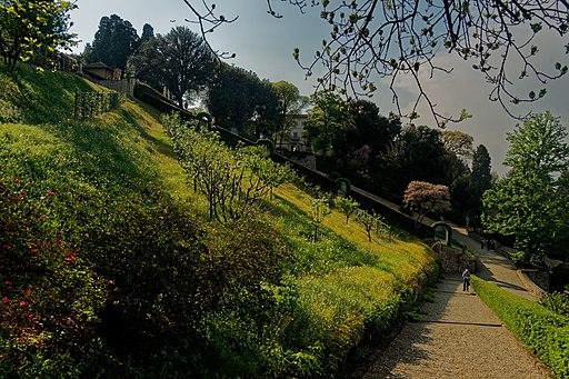 Florence - Giardino Bardini - View WNW
