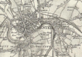 First Series OS map showing Great Boughton and Chester in 1856.png