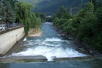 Oglio - River Oglio at Berzo Demo, Val Camonica