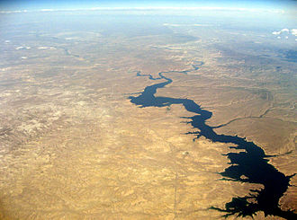 Flaming Gorge Reservoir - Aerial view of Flaming Gorge Reservoir in Wyoming