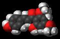 Flavokavain C molecule spacefill.png