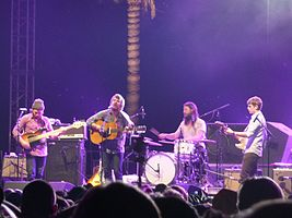 Fleet Foxes performing at the 2009 Coachella Festival