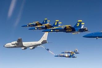 97th Air Refueling Squadron - 97th Air Refueling Squadron KC-135 refuels the Blue Angels