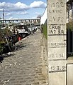 Flood levels 1978-2000, Port de Grenelle, Paris.jpg