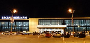 Embargo against Northern Cyprus - The Ercan International Airport, where international flights can take place only through Turkey due to the embargo.
