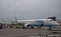 Flybe Embraer 195 G-FBEA Inverness Airport.jpg