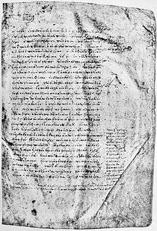 Die erste Seite der im Jahr 895 für Arethas angefertigten Sammlung der Werke Platons, des berühmten Codex Clarkianus (Quelle: Wikimedia)