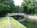 Footbridge in Acacia Hall gardens - geograph.org.uk - 897186.jpg