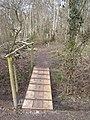 Footbridge into Broxham Wood (2) - geograph.org.uk - 1754629.jpg