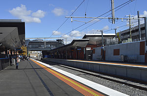 Regional Rail Link - New platforms at Footscray station in May 2014
