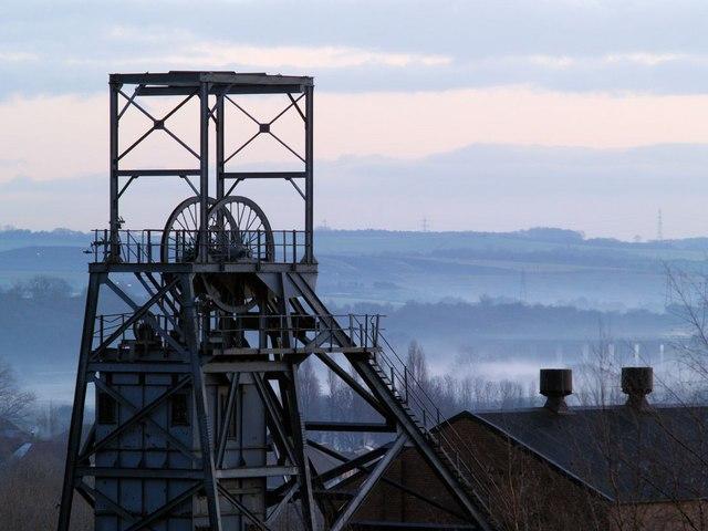 Former Barnsley Main Colliery head frame - geograph.org.uk - 480767