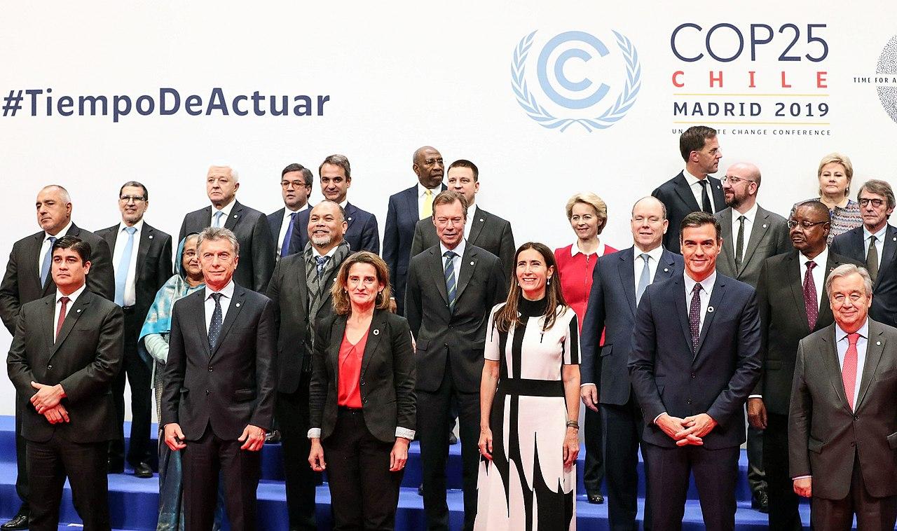 Foto oficial Conferencia de las Naciones Unidas sobre el Cambio Climático de 2019.jpg