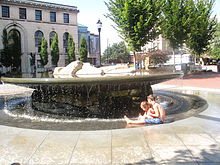 Fountain, downtown Asheville, NC IMG 5204
