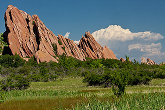 Front Range - Sandstone slabs along the eastern edge of the front range