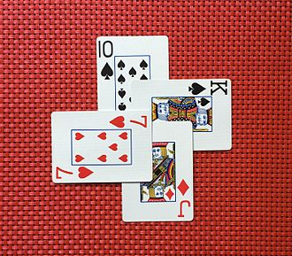 Contract bridge - Image: Four overlapping playing cards